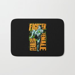 Fighter Fearless Female Bath Mat