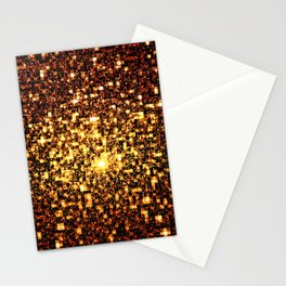 24k Gold Geometric Galaxy Stars Stationery Cards