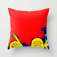hell Throw Pillows featuring Hell by Alec Goss