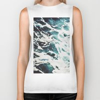 waves Biker Tanks featuring Waves by Jenna Davis Designs