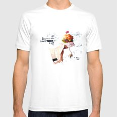 Burgery is a Sin MEDIUM Mens Fitted Tee White