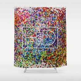 Logo on Sequins Shower Curtain