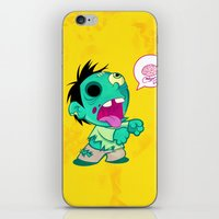 zombie iPhone & iPod Skins featuring zombie by Melissa Ballesteros Parada