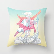 Fourth Grade Fantasy (proliferated) Throw Pillow