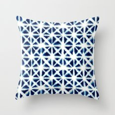 Shibori Triangles Throw Pillow