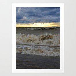 Waves & Storm 2 Art Print
