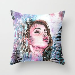 The cold breath Throw Pillow