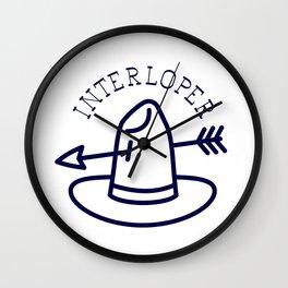 Interloper - Western Inspired Cowboy Hat With Arrrow - CJ Hughes Wall Clock