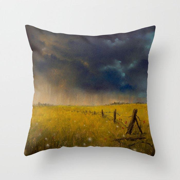 Rolling Thunder Pastel Art Print Throw Pillow