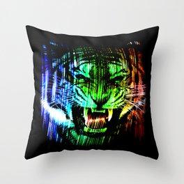 Angry tiger 02 Throw Pillow