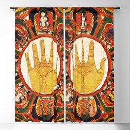 Buddhist Hindu Healing Hand Mandala Blackout Curtain