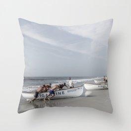 Beach Patrol, Jersey Shore Throw Pillow