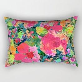 colorful floral composition Rectangular Pillow