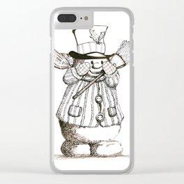 Snow Bear Three by Steve Kidd Art Clear iPhone Case