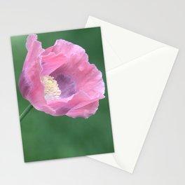 Pink Poppy Profile Stationery Cards