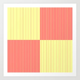 Yellow and Coral Art Print