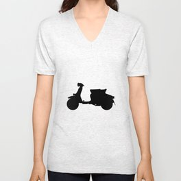 Scooter Silhouette Unisex V-Neck