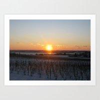 Stoney Lonesome Sunset Art Print
