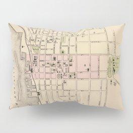 Vintage Map of Burlington Vermont (1873) Pillow Sham