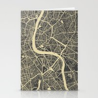 london map Stationery Cards featuring London map by Map Map Maps