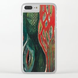 Flamboyant Tree Clear iPhone Case