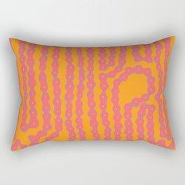 Bike Chain - Wild Hot Rectangular Pillow