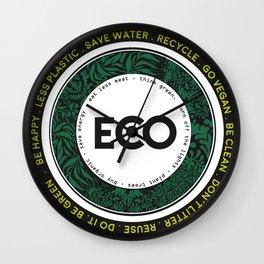 Eco-Logo Wall Clock