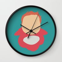 ponyo Wall Clocks featuring Ponyo by Polvo