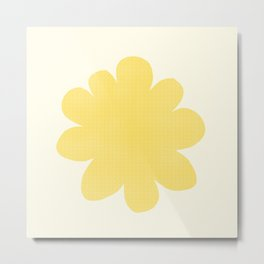 Yellow Flower on Pale Yellow Metal Print