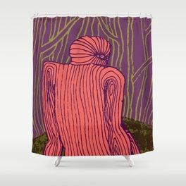 Thinking Creature Shower Curtain