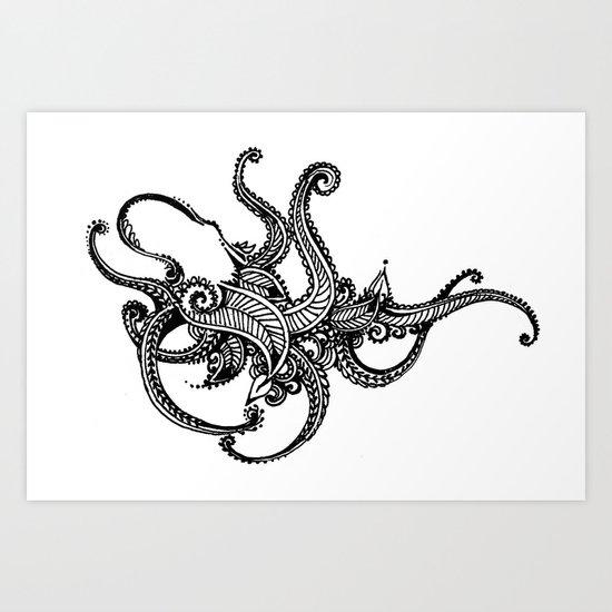 Henna Octopus  Art Print