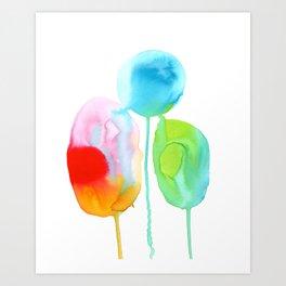 Abstract Rainbow drops Art Print