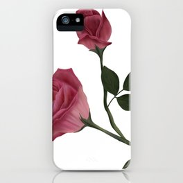 Mystical Maroon Rose iPhone Case