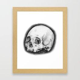 Tiny Skull Framed Art Print
