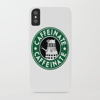 dalek iPhone & iPod Cases featuring Dalek Caffeinate by ThePhantomMoon