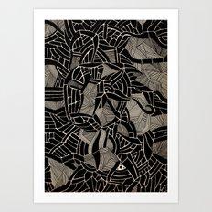 - cosmophobic cow - Art Print