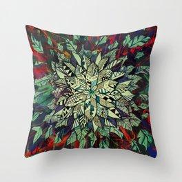 Enrich Your Life (Green) Throw Pillow