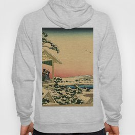 Japanese teahouse after the snow Hoody