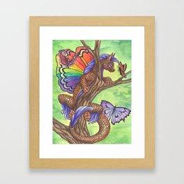 Curious Flutterby Framed Art Print