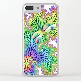 Dragonfly Forest Clear iPhone Case