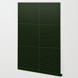 Dark Forest Green and Black Gingham Checkcom Wallpaper