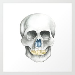 Skull Black and White Art Print
