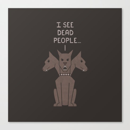 Monster Issues - Cerberus Canvas Print