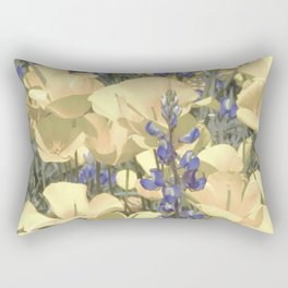 Mexican Goldpoppies & Desert Lupine by Murray Bolesta Rectangular Pillow