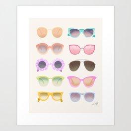 Colorful Sunglasses Art Print