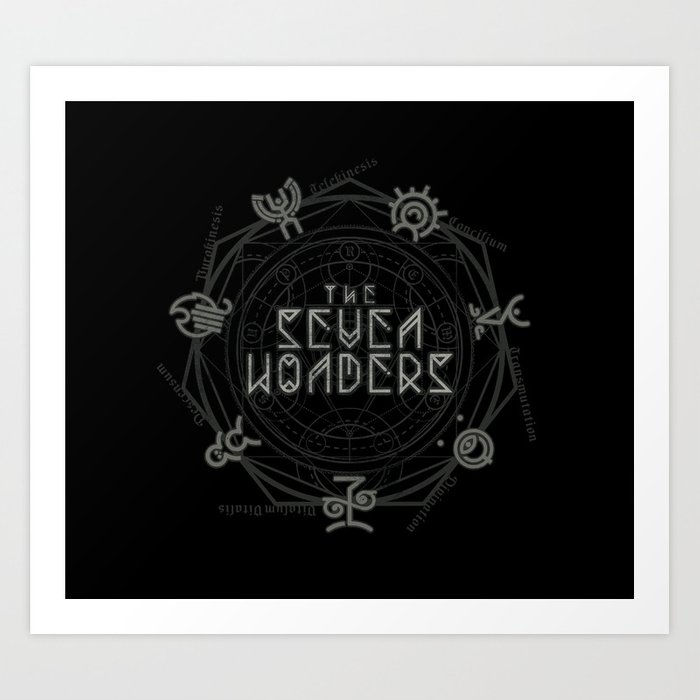 The Seven Wonders Art Print