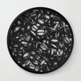 coffee floor black Wall Clock