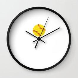 Proud and Loud Softball Mom Funny Sports T-shirt Wall Clock