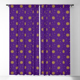 Astrological Purple Stars and Sun Blackout Curtain