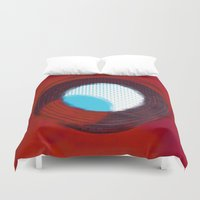 aperture Duvet Covers featuring aperture 2 by Ricochet  Elm  Studio